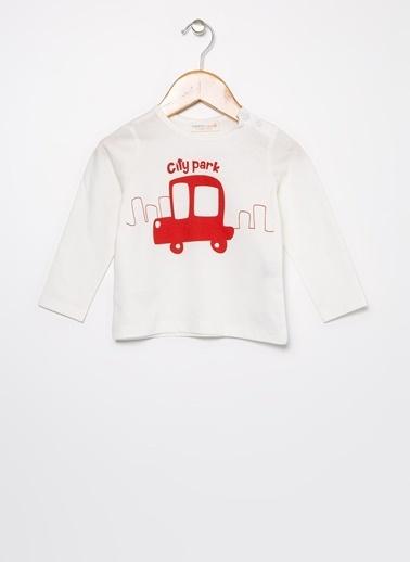 Mammaramma Mammaramma Baskılı Ekru Bebek T-Shirt Ekru